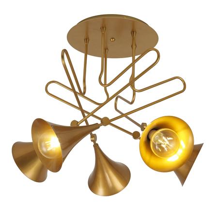 Потолочная люстра Mantra Jazz 6352, золото, металл