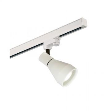 Светильник с регулировкой направления света для шинной системы Mantra Kos 5850, белый, металл