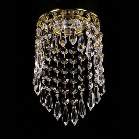 Встраиваемый светильник Artglass SPOT 04 CE SALE, 1xGU10x35W, золото, прозрачный с золотом, прозрачный, металл, хрусталь Artglass Crystal Exclusive