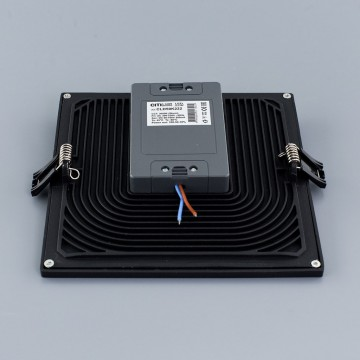 Встраиваемая светодиодная панель Citilux Омега CLD50K222, LED 22W 3000K 1760lm, черный, черно-белый, металл с пластиком - миниатюра 4
