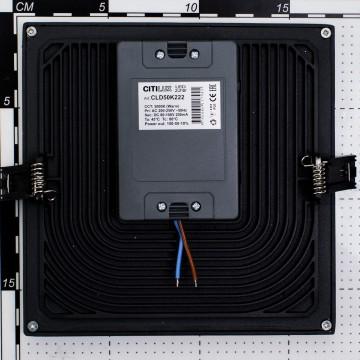 Встраиваемая светодиодная панель Citilux Омега CLD50K222, LED 22W 3000K 1760lm, черный, черно-белый, металл с пластиком - миниатюра 5