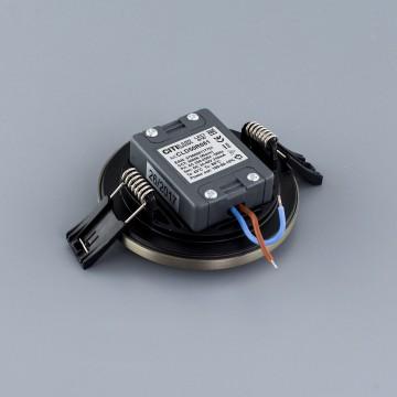 Встраиваемая светодиодная панель Citilux Омега CLD50R081, LED 8W 3000K 640lm, матовый хром, металл с пластиком - миниатюра 4