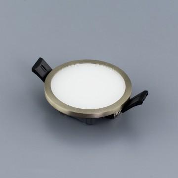 Встраиваемая светодиодная панель Citilux Омега CLD50R081, LED 8W 3000K 640lm, матовый хром, металл с пластиком - миниатюра 5