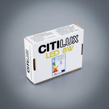 Встраиваемая светодиодная панель Citilux Омега CLD50R081, LED 8W 3000K 640lm, матовый хром, металл с пластиком - миниатюра 6