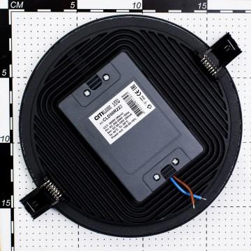 Светодиодная панель Citilux Омега CLD50R222, LED 22W 3000K 1760lm, черный, черно-белый, металл с пластиком - миниатюра 6