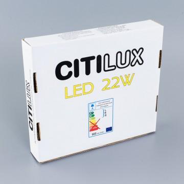 Светодиодная панель Citilux Омега CLD50R222, LED 22W 3000K 1760lm, черный, черно-белый, металл с пластиком - миниатюра 7