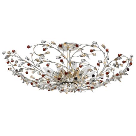 Потолочная люстра Chiaro Виола 298013309, 9xE14x40W, серебро, янтарь, коньячный, металл, металл со стеклом/хрусталем