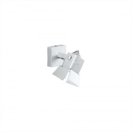Настенный светильник с регулировкой направления света Citilux Рубик CL526510S, 1xGU10x50W, хром, белый, металл