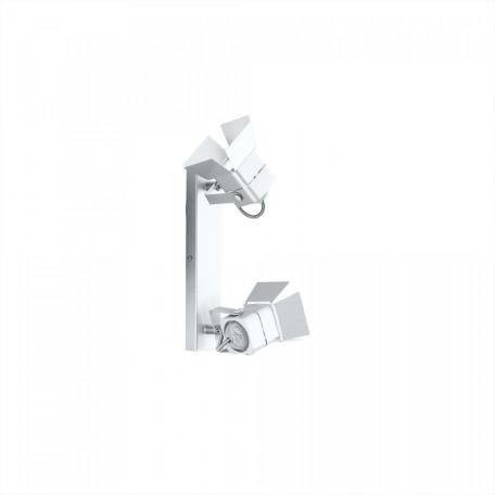 Настенный светильник с регулировкой направления света Citilux Рубик CL526520S, 2xGU10x50W, хром, белый, металл