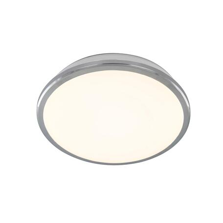 Потолочный светодиодный светильник Citilux Луна CL702161Wz, IP54, LED 16W 3000K 1200lm, хром, металл с пластиком
