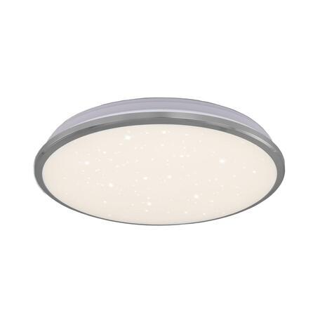 Потолочный светодиодный светильник Citilux Луна CL702221Wz, IP54, LED 22W 3000K 1600lm, хром, металл с пластиком