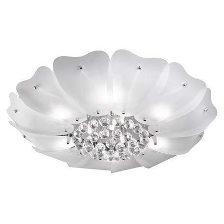 Потолочная люстра Lightstar Lobo 804040, 9xG9x40W, хром, белый, прозрачный, металл, стекло, хрусталь