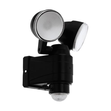 Светодиодный прожектор Eglo Casabas 98189, IP44, LED 8W 6500K 800lm CRI>80, черный, пластик