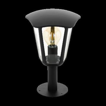 Садово-парковый светильник Eglo Monreale 98122, IP44, 1xE27x60W, черный, прозрачный, металл, металл с пластиком