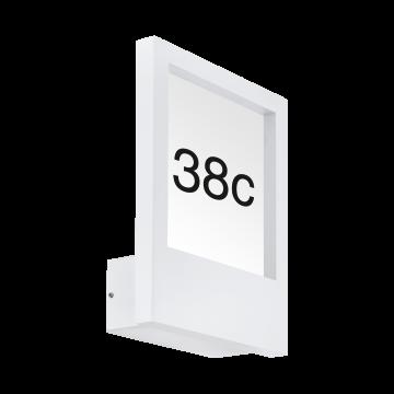 Светильник-указатель Eglo Monteros 98143, IP44, 1xE27x40W, белый, металл, металл со стеклом/пластиком
