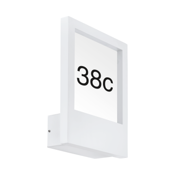 Светильник-указатель Eglo Monteros 98143, IP44, 1xE27x40W, белый, металл, металл со стеклом