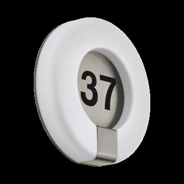 Светодиодный светильник-указатель с пультом ДУ Eglo Marchesa-C 98145, IP44, LED 15W 2700-6500K 1650lm, сталь, белый, металл, пластик