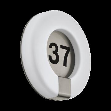 Светодиодный светильник-указатель Eglo Marchesa 98147, IP44, LED 15W 3000K 1300lm, сталь, белый, металл, пластик