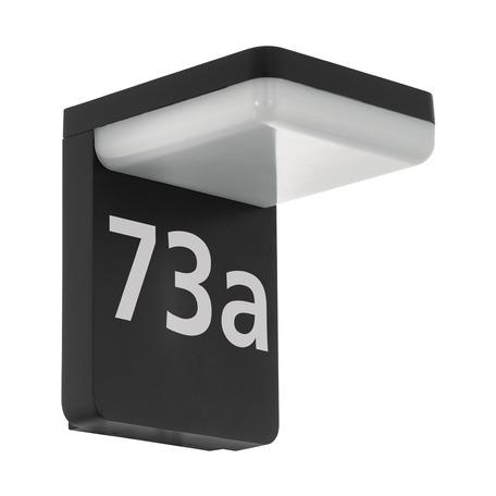 Светодиодный светильник-указатель Eglo Amarosi 98091, IP44, LED 11W 3000K 830lm, черный, белый, металл, пластик