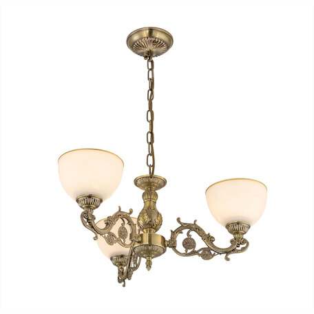 Светильник Citilux Адриана CL405233, 2xE27x75W, бронза, белый с золотом, металл, стекло