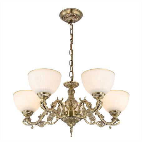 Светильник Citilux Адриана CL405253, 4xE27x75W, бронза, белый с золотом, металл, стекло