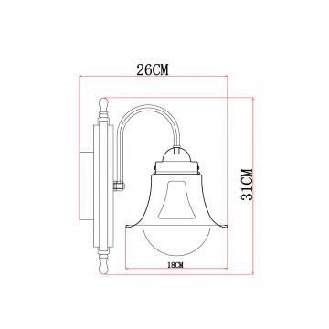 Схема с размерами Arte Lamp A7006AP-1AB