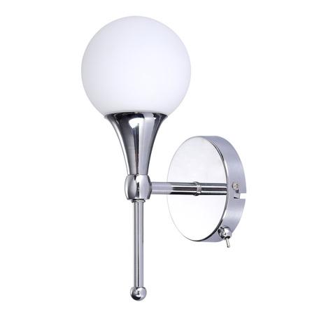 Бра Arte Lamp Palla A9162AP-1CC, 1xG9x33W, хром, белый, металл, стекло