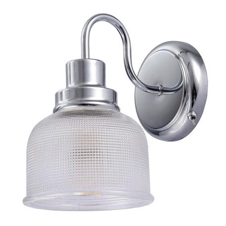 Бра Arte Lamp Ricardo A9186AP-1CC, 1xE27x40W, хром, прозрачный, металл, стекло