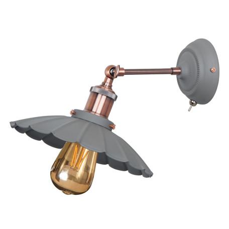 Бра с регулировкой направления света Arte Lamp Asti A8160AP-1GY, 1xE27x60W, серый, медь, металл