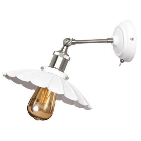 Бра с регулировкой направления света Arte Lamp Asti A8160AP-1WH, 1xE27x60W, белый, серебро, металл