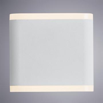 Настенный светодиодный светильник Arte Lamp Instyle Lingotto A8153AL-2WH, IP54, 3000K (теплый), белый, металл, стекло