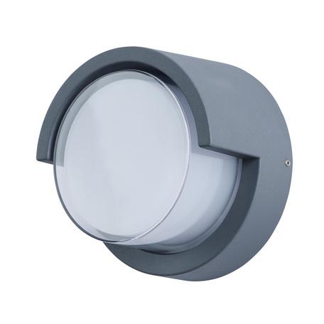 Настенный светодиодный светильник Arte Lamp Instyle Lancia A8159AL-1GY, IP54, LED 8W 3000K 640lm CRI≥80, серый, металл со стеклом, стекло