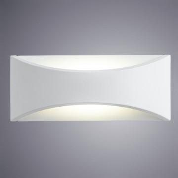 Настенный светодиодный светильник Arte Lamp Instyle Dino A8288AL-1WH, IP54, LED 6W 3000K 400lm CRI≥80, белый, металл, пластик