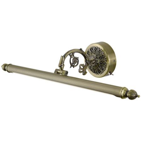 Настенный светодиодный светильник для подсветки картин Arte Lamp Bari A6712AP-1AB, LED 12W 3000K 657lm CRI≥80, бронза, металл, пластик