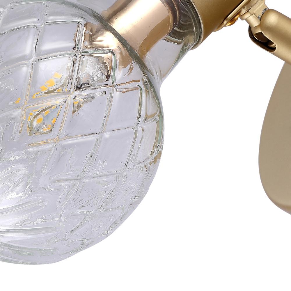 Настенный светильник с регулировкой направления света Arte Lamp Salute A8040AP-1SG, 1xG9x33W, матовое золото, прозрачный, металл, стекло - фото 3