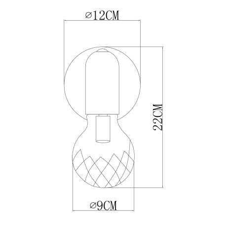 Схема с размерами Arte Lamp A8040AP-1SG