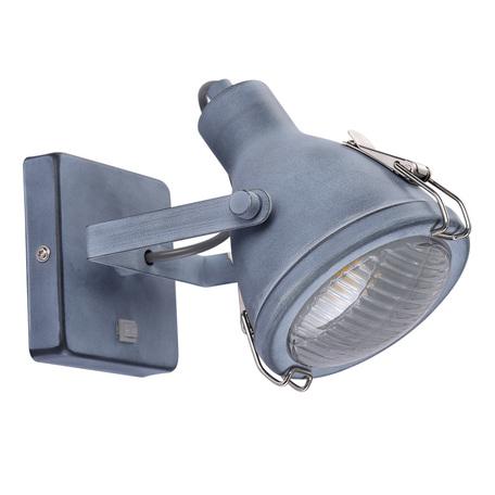 Настенный светильник с регулировкой направления света Arte Lamp Faro A9178AP-1GY, 1xE14x40W, серый, металл, стекло