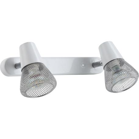 Настенный светильник с регулировкой направления света Arte Lamp Grid A9268AP-2WH, 2xGU10x50W, белый, хром, металл