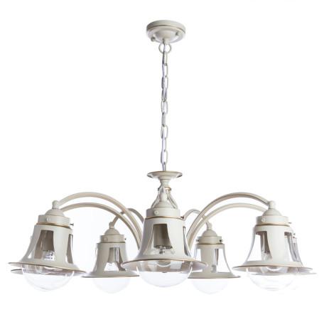 Подвесная люстра Arte Lamp Marino A7022LM-7WG, 7xE27x60W, белый с золотой патиной, белый, прозрачный, металл, металл со стеклом