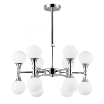 Подвесная люстра Arte Lamp Palla A9162LM-12CC, 12xG9x33W, хром, белый, металл, стекло - миниатюра 2