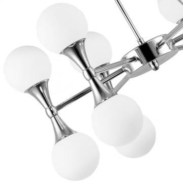 Подвесная люстра Arte Lamp Palla A9162LM-12CC, 12xG9x33W, хром, белый, металл, стекло - миниатюра 3