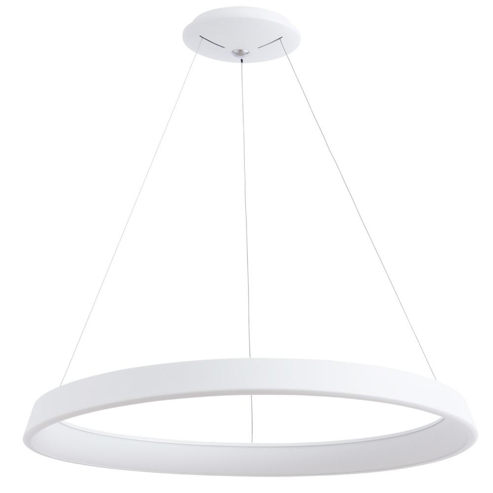 Подвесной светодиодный светильник Arte Lamp Corona A6280SP-1WH, белый, металл, пластик - фото 1