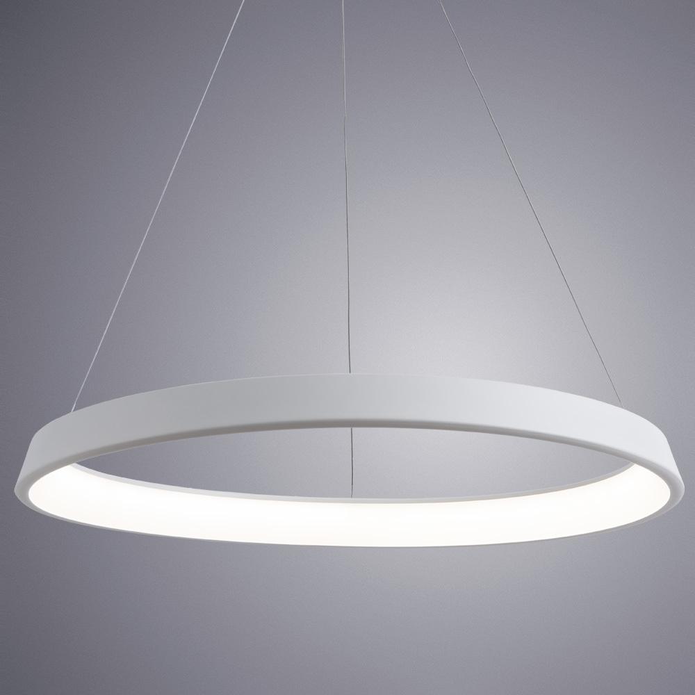 Подвесной светодиодный светильник Arte Lamp Corona A6280SP-1WH, белый, металл, пластик - фото 2