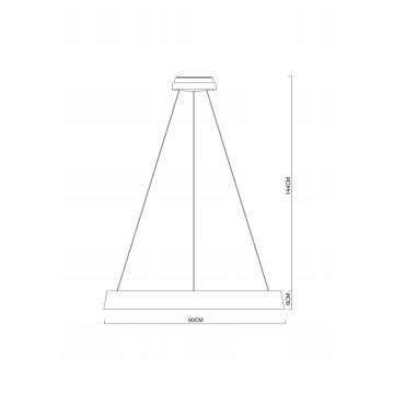Схема с размерами Arte Lamp A6280SP-1WH