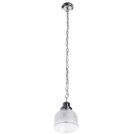 Подвесной светильник Arte Lamp Ricardo A9186SP-1CC, 1xE27x40W, хром, прозрачный, металл, стекло - миниатюра 1