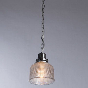 Подвесной светильник Arte Lamp Ricardo A9186SP-1CC, 1xE27x40W, хром, прозрачный, металл, стекло - миниатюра 2