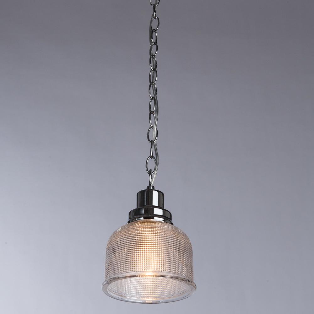 Подвесной светильник Arte Lamp Ricardo A9186SP-1CC, 1xE27x40W, хром, прозрачный, металл, стекло - фото 2
