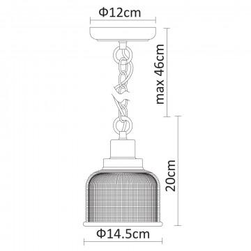 Схема с размерами Arte Lamp A9186SP-1CC