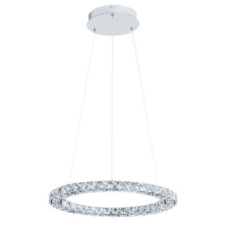 Подвесной светодиодный светильник Arte Lamp Preziosi A6715SP-1CC, LED 24W 4000K 1600lm CRI≥80, хром, прозрачный, металл, хрусталь