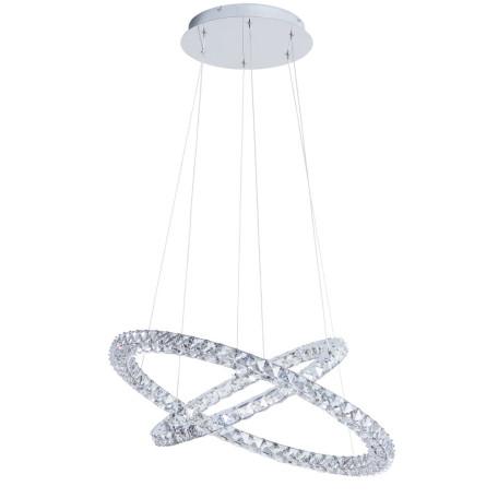 Подвесной светодиодный светильник Arte Lamp Preziosi A6717SP-2CC, LED 60W 4000K 6000lm CRI≥80, хром, прозрачный, металл, хрусталь